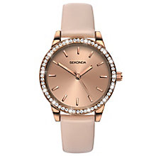Sekonda Editions Ladies' Rose Leather Strap Watch - Product number 6231489