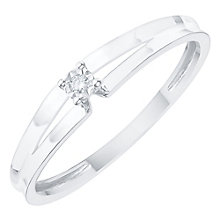 9ct White Gold Diamond Solitaire Ring - Product number 6231764