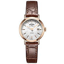 Rotary Les Originales Windsor Brown Leather Strap Watch - Product number 6232345