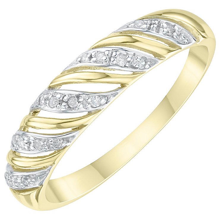 9ct Yellow Gold Diamond Eternity Ring - Product number 6232647