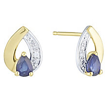 9ct Yellow Gold  Shapphire & Diamond Earring - Product number 6232930
