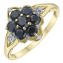 9ct Yellow Gold Sapphire & Diamond Ring - Product number 6234240