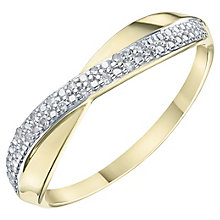 9ct Yellow Gold  & Diamond  Eternity Ring - Product number 6234518