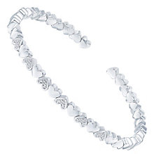 Sterling Silver Diamond Heart Bangle - Product number 6234925