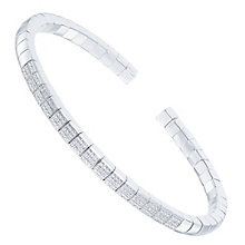 Sterling Silver Diamond Square Bangle - Product number 6234941