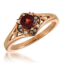 14ct Starwberry Gold Diamond & Garnet Ring - Product number 6236340