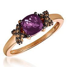 14ct Starwberry Gold Diamond & Grape Amethyst Ring - Product number 6236480