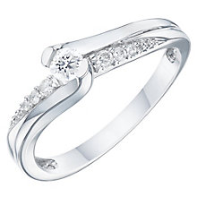 9ct White Gold 0.17ct Diamond Solitaire Ring - Product number 6237614