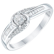 9ct White Gold 1/4 Carat Diamond Solitaire Ring - Product number 6238505