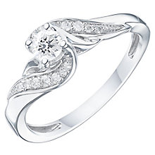 9ct White Gold 1/4ct Diamond Ring - Product number 6238661