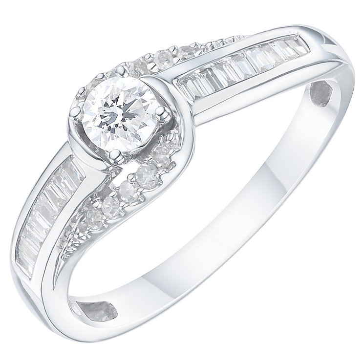 9ct White Gold 1/3ct Diamond Ring - Product number 6238807