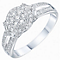 9ct White Gold  2/5ct Diamond Cluster Ring - Product number 6239587