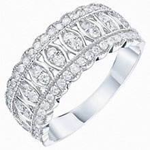 9ct White Gold 1/2ct Diamond Eternity Ring - Product number 6239927