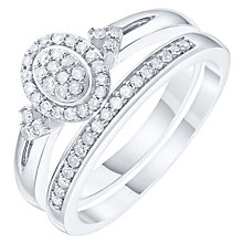 Perfect Fit 9ct White Gold 1/5ct Bridal Set - Product number 6240690