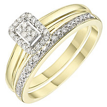 Perfect Fit 9ct Gold 0.12 Carat Diamond Bridal Ring Set - Product number 6241042