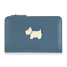 Radley Cadet Medium Zip Blue Leather Purse - Product number 6241476