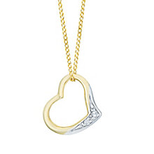 9ct Yellow Gold Diamond Heart Pendant - Product number 6241565