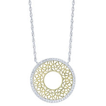 Sterling Silver & 9ct Yellow Gold  0.15ct Diamond Pendant - Product number 6242049