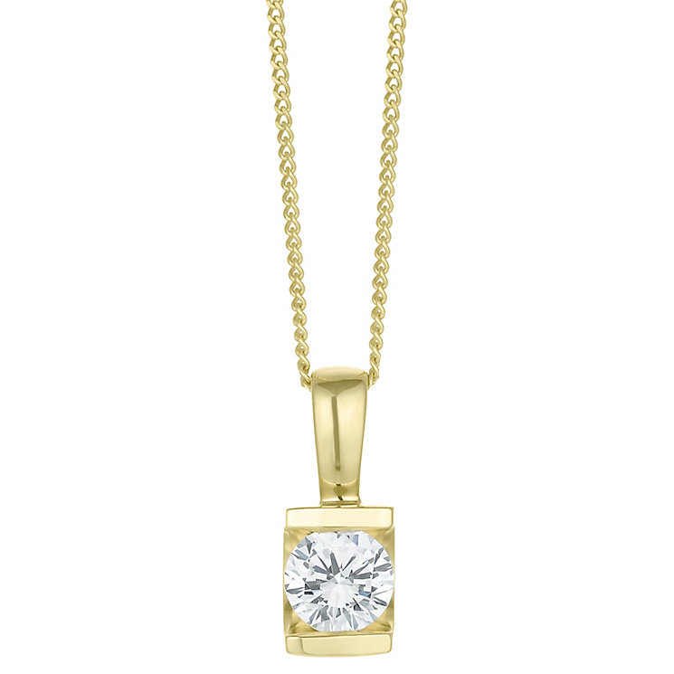 9ct Gold 0.40 Carat Diamond Bar Set Pendant - Product number 6242189