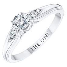 The One 9ct White Gold 1/4ct Diamond Ring - Product number 6243797