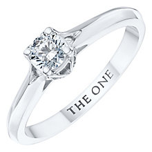 The One 9ct White Gold 1/3ct Diamond Ring - Product number 6244467