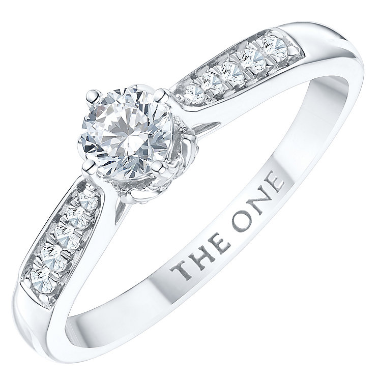 The One 9ct White Gold 1/3ct Diamond Ring - Product number 6245021