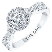 The One 9ct White Gold 3/4ct Diamond Ring - Product number 6245366