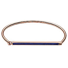 Fossil Rose Gold-Plated Blue Stone Bar Bangle - Product number 6245870