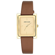 Anne Klein Ladies' Champage Gold Brown Leather Strap Watch - Product number 6246133