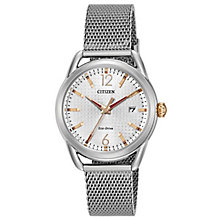 Citizen Eco-Drive Ladies' Stainless Steel Mesh Strap Watch - Product number 6247008