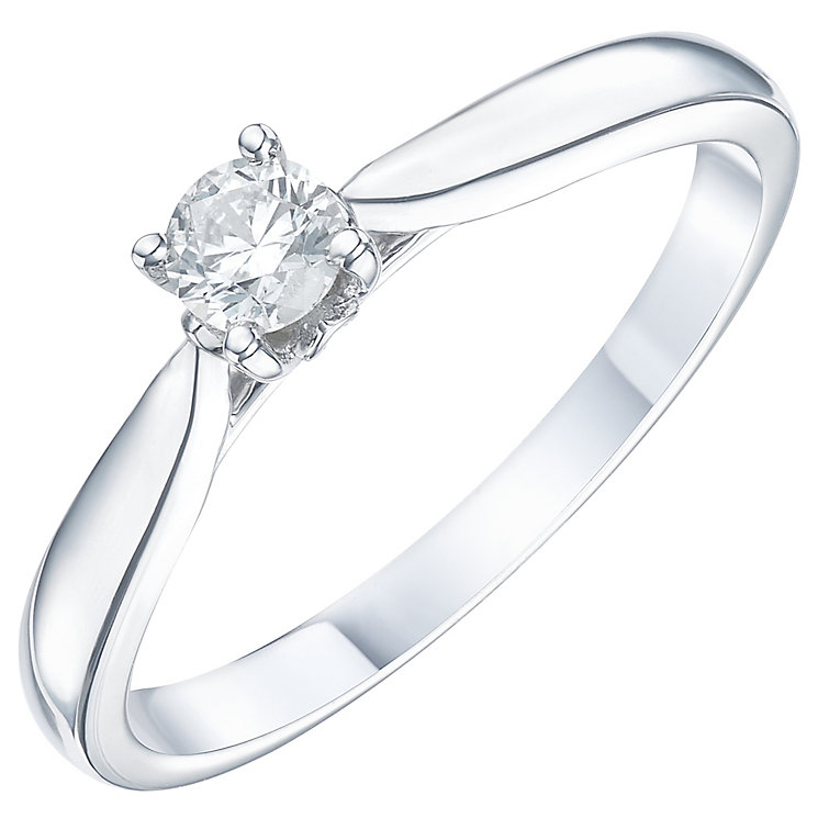 9ct White Gold 1/5ct Diamond Solitare Ring - Product number 6248330