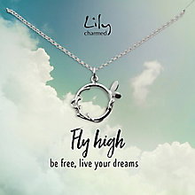 Lily Charmed Silver Butterfly Ring Pendant - Product number 6250556
