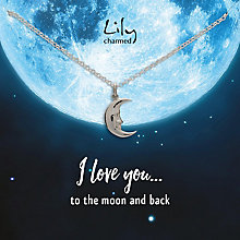 Lily Charmed Silver Moon Pendant - Product number 6250580