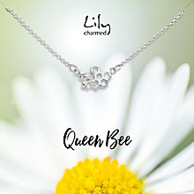 Lily Charmed Silver Honeycomb Necklace - Product number 6250629
