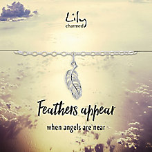 Lily Charmed Silver Feather Charm Bracelet - Product number 6250920
