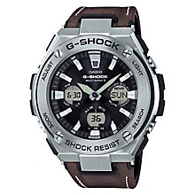 Casio G-Shock Stainless Steel & Brown Leather Strap Watch - Product number 6251099