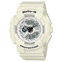 Casio Baby-G Punching Pattern White Resin Strap Watch - Product number 6251102