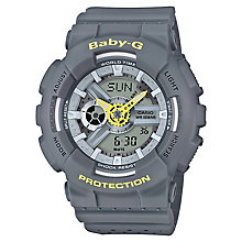 Casio Baby-G Punching Pattern Grey Resin Strap Watch - Product number 6251110