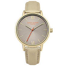 Daisy Dixon Billie Ladies' Pearlised Gold Leather Watch - Product number 6251145