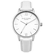 Daisy Dixon Tara Ladies' White Leather Strap Watch - Product number 6251153