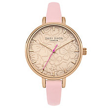 Daisy Dixon Phoebe Ladies' Pink Leather Strap Watch - Product number 6251161