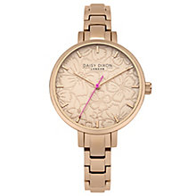 Daisy Dixon Leona Ladies' Rose Gold-Plated Bracelet Watch - Product number 6251188