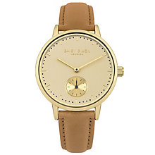 Daisy Dixon Sadie Ladies' Gold-Plated Leather Strap Watch - Product number 6251234