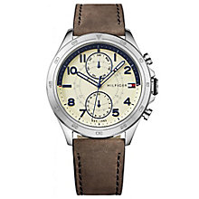 Tommy Hilfiger Men's Brown Leather Strap Watch - Product number 6252079
