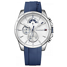 Tommy Hilfiger White Dial Blue Silicone Strap Watch - Product number 6252109