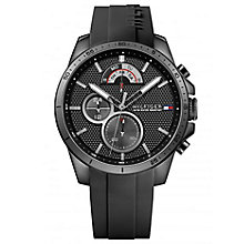 Tommy Hilfiger Black Dial Black Silicone Strap Watch - Product number 6252117