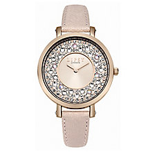 Lipsy Ladies' Rose Gold-Plated Pink PU Strap Watch - Product number 6252133