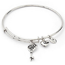 Chrysalis Rhodium-Plated Key Of Life Bangle - Product number 6252729
