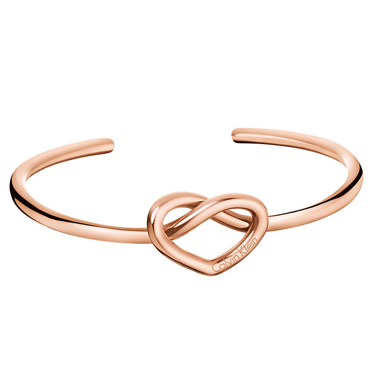 Calvin Klein Charming Rose Gold PVD Open Bangle - Product number 6253113