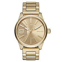 Diesel Gold Dial Gold-Plated Bracelet Watch - Product number 6253849